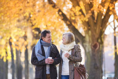 Active seniors in town Stock Photography