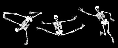 Active Skeletons Stock Images