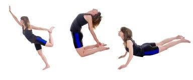 Active slim woman exercising Stock Photo