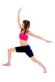 Active slim woman exercising Stock Image