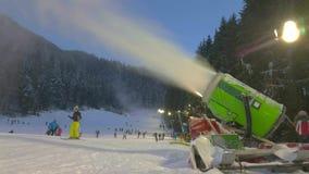 Active snow machine stock video footage