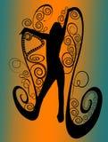 Active spiral silhouette stock photos