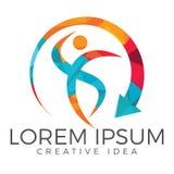 Abstract fitness logo design. Active sport logo. Success creative concept icon Stock Illustration