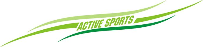 Active sports. The graphic design green sports lines Royalty Free Stock Photos