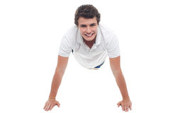Active sports guy doing push ups Royalty Free Stock Photo