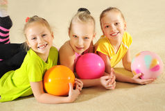 Active sporty girls Stock Photos