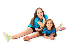 Active sporty girls Stock Photo