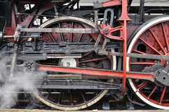 Active steam locomotive Royalty Free Stock Images