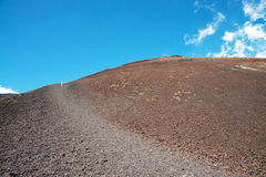 Active stratovolcano Etna, Italy Royalty Free Stock Photos