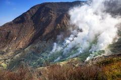 Active sulphur vents of Owakudani at Fuji volcano. Japan Stock Photo