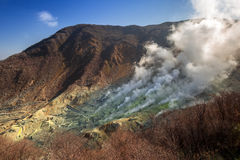 Active sulphur vents of Owakudani, Japan. Active sulphur vents of Owakudani at Fuji volcano, Japan Stock Image