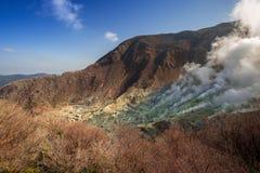 Active sulphur vents of Owakudani, Japan Royalty Free Stock Image