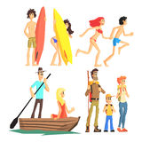 Active Summer Leisure Set Royalty Free Stock Images