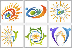 Active sun logo Royalty Free Stock Photo