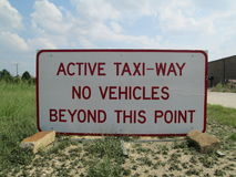 Active Taxiway Sign Stock Image