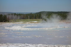An active thermal pool at yellowstone park. Royalty Free Stock Images