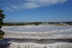 An active thermal pool at yellowstone park. Stock Photos
