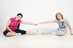 Active two women training Stock Photo
