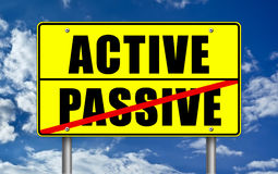 Active versus Passive Royalty Free Stock Image