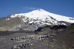 Active Villarrica volcano Stock Image