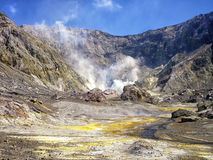 Active volcanic area. White island New Zealand Royalty Free Stock Photography
