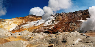 Active volcanic crater Royalty Free Stock Photography