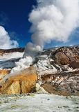 Active volcanic crater Stock Photo