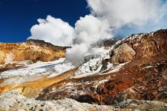 Active volcanic crater Stock Photos