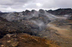 Active Volcanic Fissure royalty free stock photos