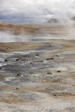 Active volcanic zone. Geothermical vents. Iceland Stock Photo