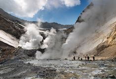 Active volcano. Inside crater of active volcano Royalty Free Stock Photography