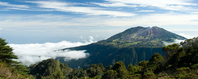 Volcano on island of Costa Rica stock photo
