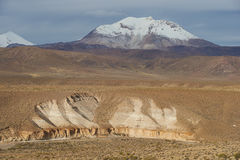 Active Volcano on the Altiplano Royalty Free Stock Photos