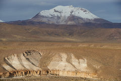 Active Volcano on the Altiplano Royalty Free Stock Photography