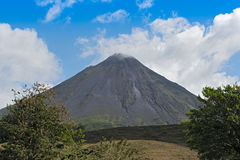 Active volcano Arenal in Costa Rica Royalty Free Stock Photography