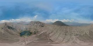 Active volcano with crater Bromo, Jawa, Indonesia. vr360