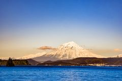 Active volcano in Kamchatka Royalty Free Stock Images