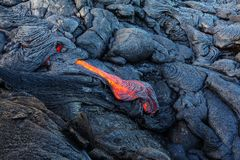 Active volcano. Kilauea Active Volcano on Big Island, Hawaii Stock Photography