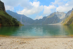 The active volcano Pinatubo and the crater lake, Philippines Stock Photo