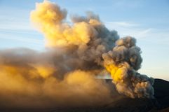 Active Volcano Smoke Stock Photography