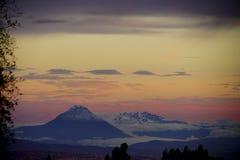 The active volcano of Tungurahua royalty free stock photography