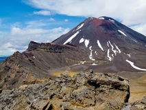 Active volcanoe cone of Mt Ngauruhoe New Zealand Royalty Free Stock Photos