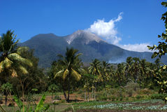 Active vulcano in Watumita, Flores, Indonesia Stock Photos