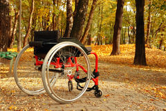 Active wheelchair in the park Royalty Free Stock Photography