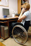 Active wheelchair woman Royalty Free Stock Image