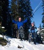 Active winter seniors Royalty Free Stock Photos