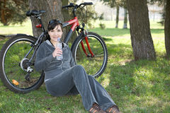 Active woman Stock Image