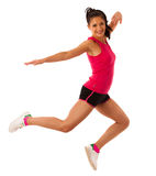 Active woman doing aerobics for a cardio training dancing Royalty Free Stock Photo