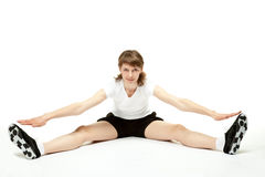 Active woman doing sport exercises Royalty Free Stock Photos