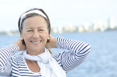 Active woman enjoying retirement Royalty Free Stock Images